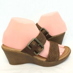 Boc by born leather wedges size 7